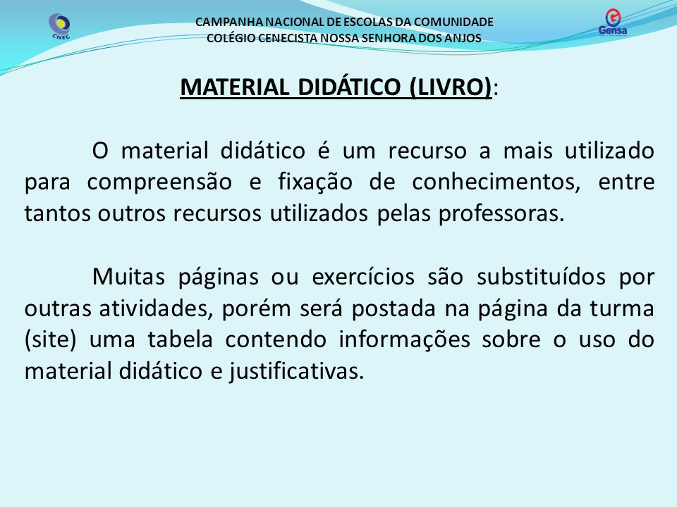 MATERIAL DIDÁTICO (LIVRO):