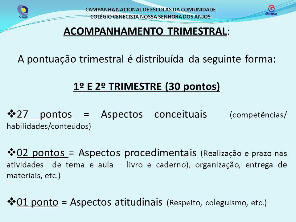 1º E 2º TRIMESTRE (30 pontos)