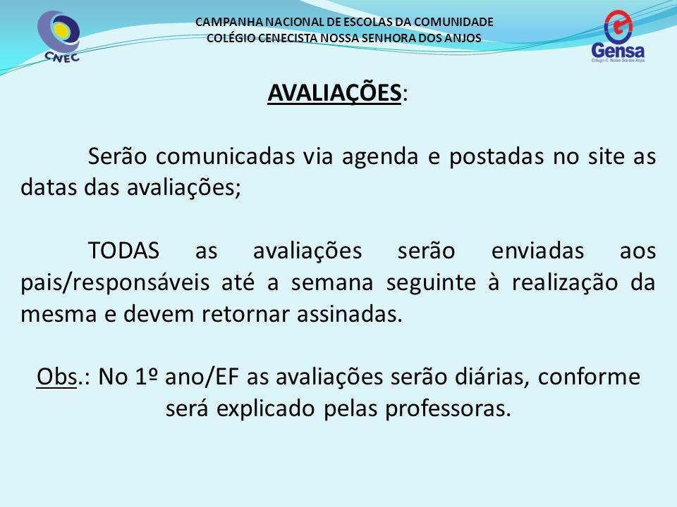 CAMPANHA NACIONAL DE ESCOLAS DA COMUNIDADE COLÉGIO CENECISTA NOSSA SENHORA DOS ANJOS