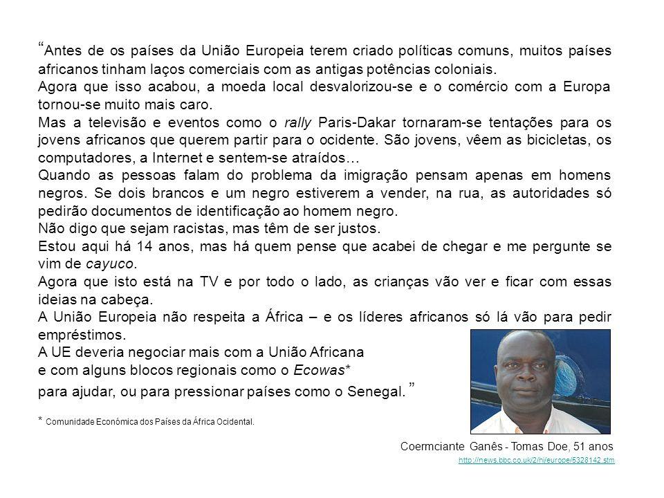 Coermciante Ganês - Tomas Doe, 51 anos