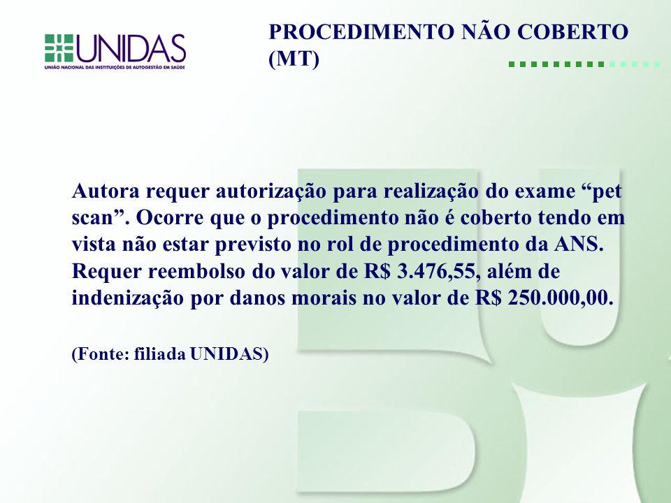 PROCEDIMENTO NÃO COBERTO (MT)