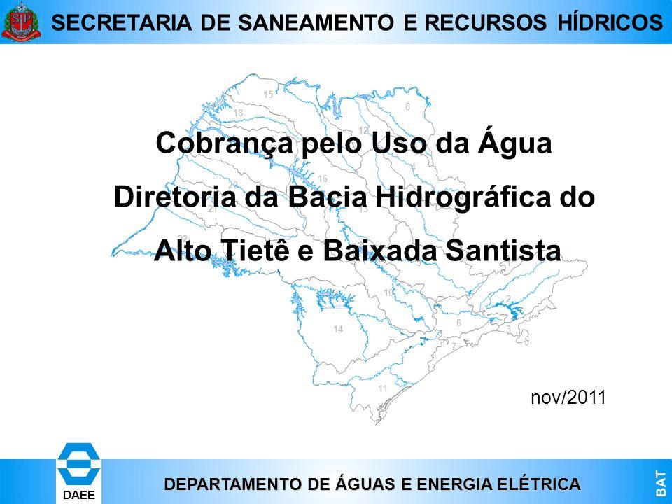 Cobrança pelo Uso da Água Diretoria da Bacia Hidrográfica do