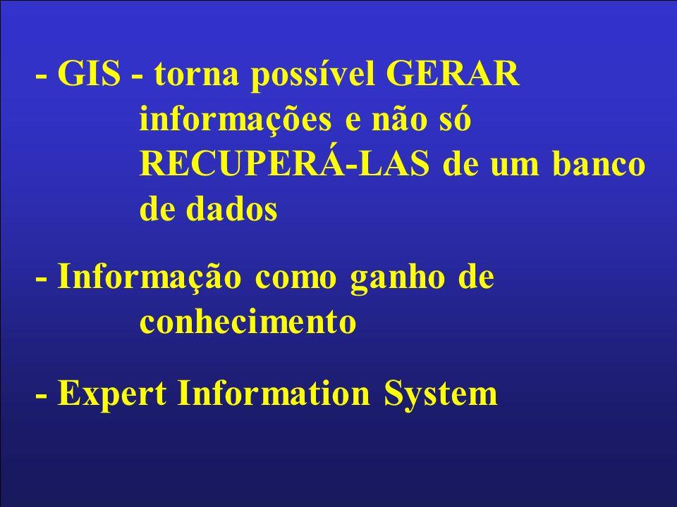 - GIS - torna possível GERAR