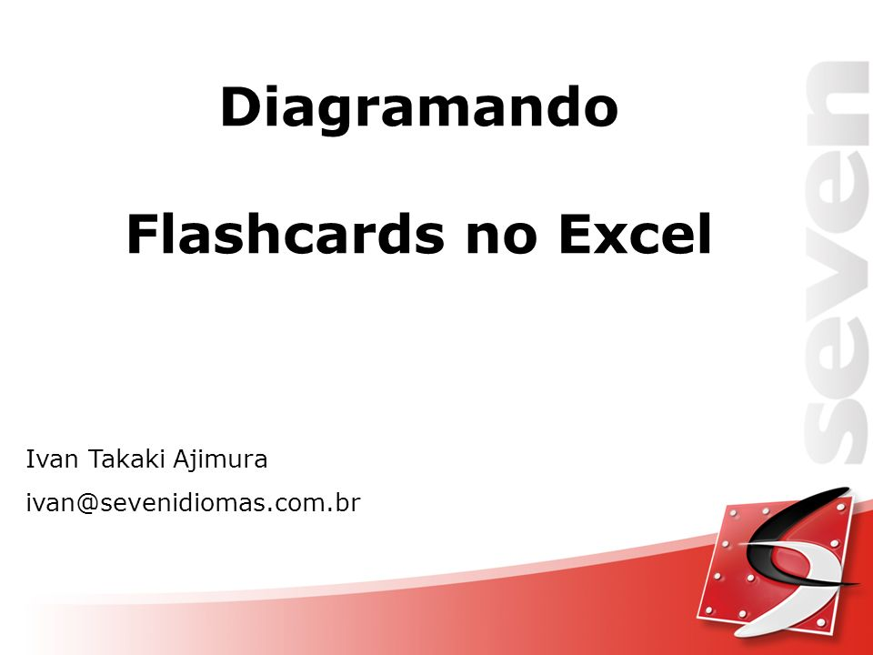 Diagramando Flashcards no Excel
