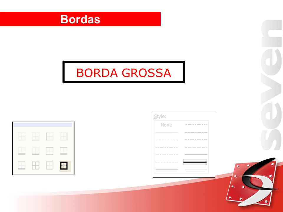 Bordas BORDA GROSSA