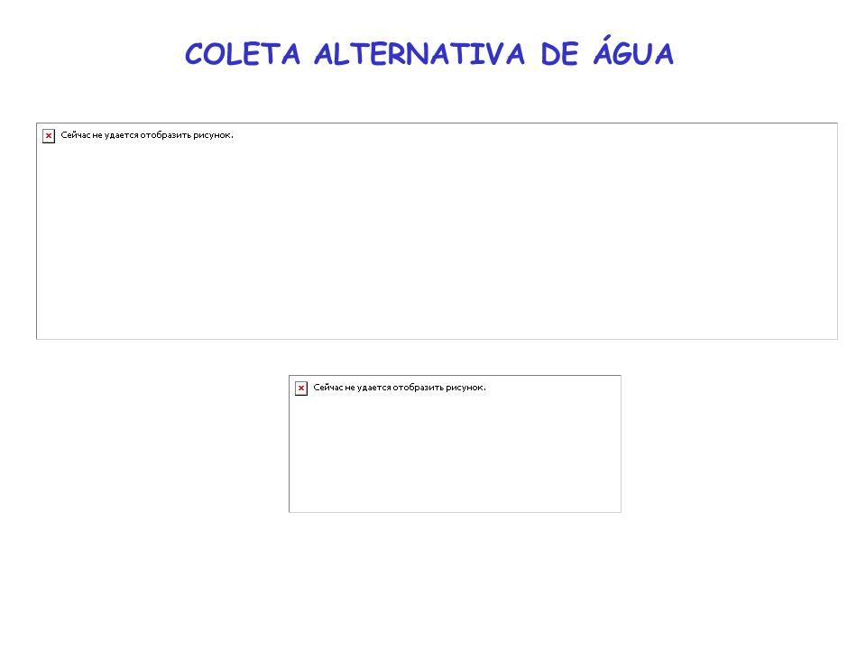 COLETA ALTERNATIVA DE ÁGUA