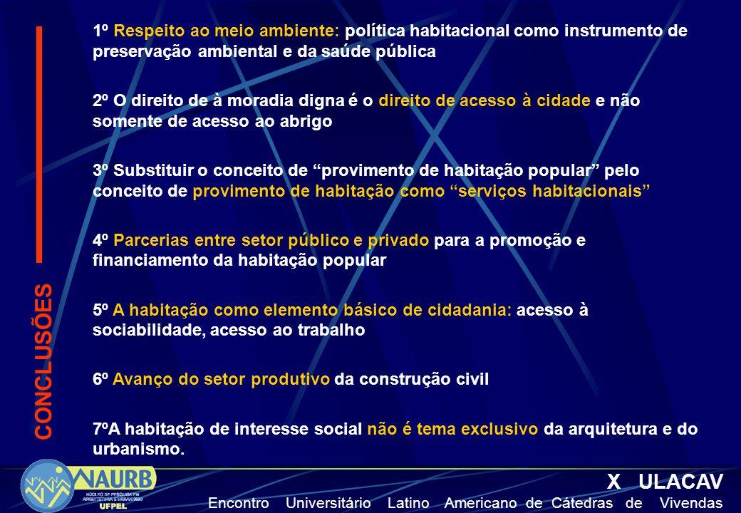 1º Respeito ao meio ambiente: política habitacional como instrumento de preservação ambiental e da saúde pública