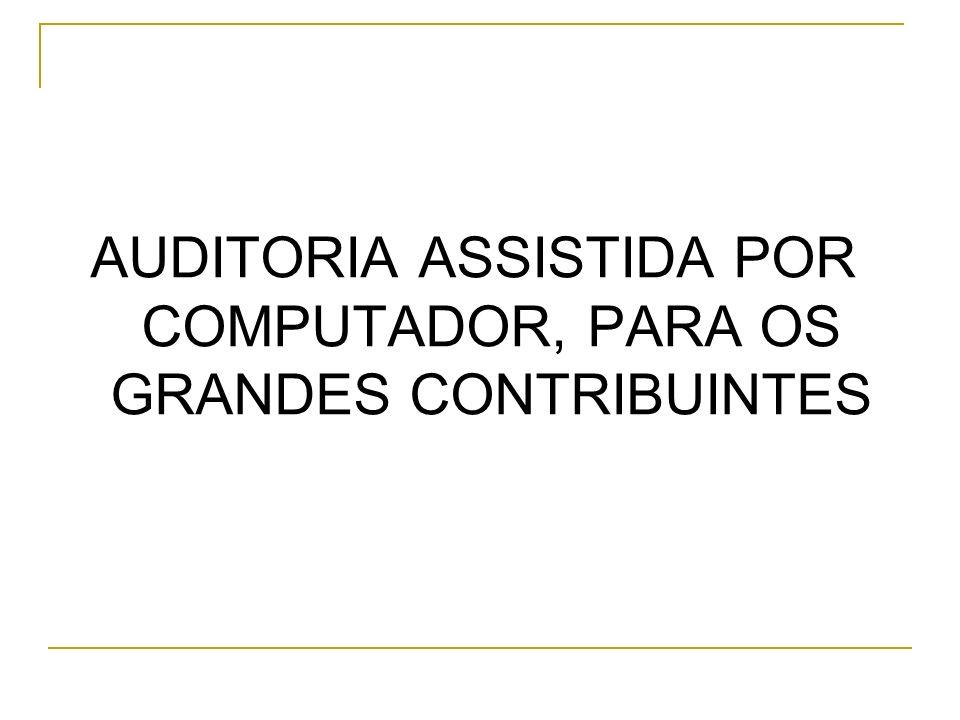 AUDITORIA ASSISTIDA POR COMPUTADOR, PARA OS GRANDES CONTRIBUINTES
