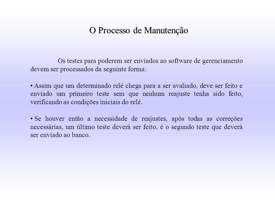O Processo de Manutenção