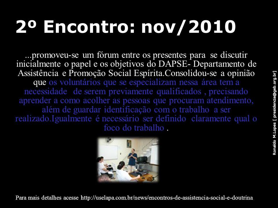 2º Encontro: nov/2010