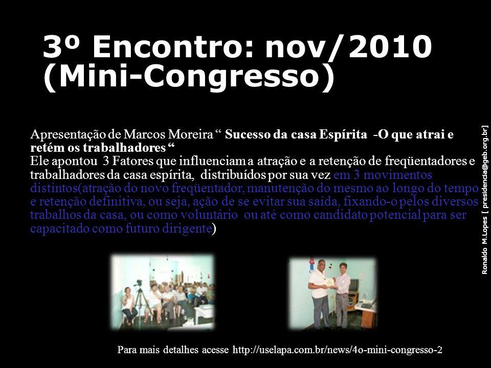 3º Encontro: nov/2010 (Mini-Congresso)