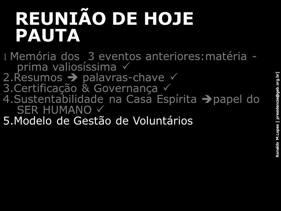 REUNIÃO DE HOJE PAUTA 2.Resumos  palavras-chave 