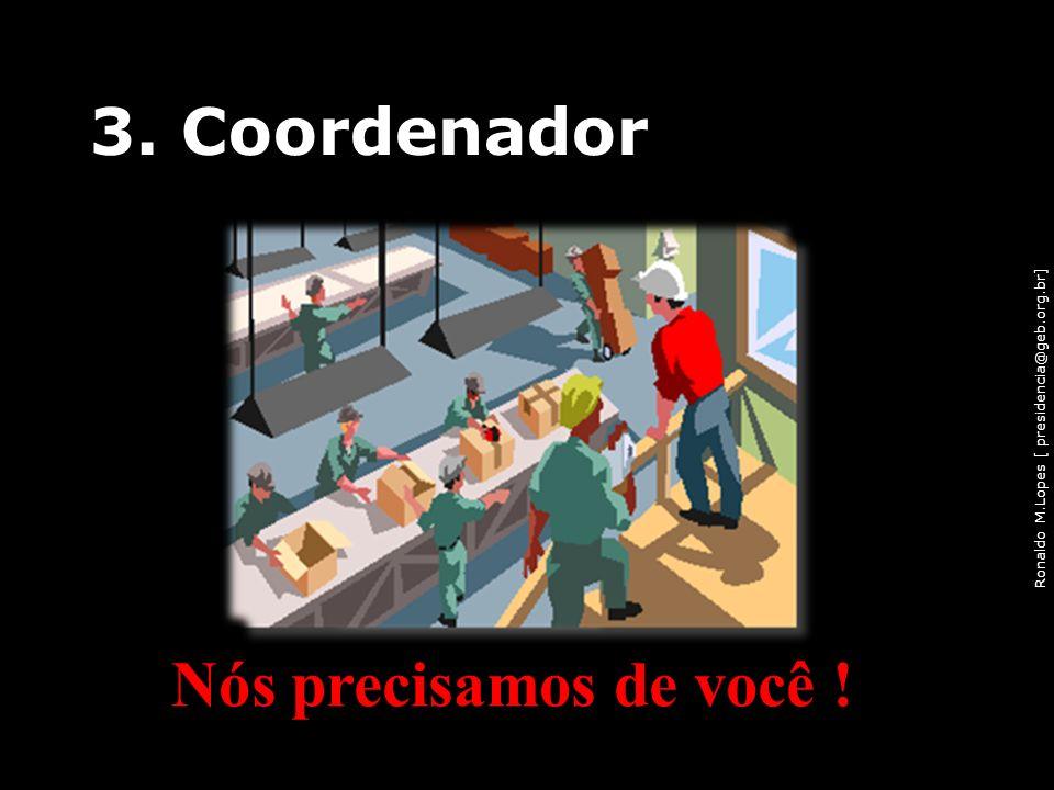 3. Coordenador Nós precisamos de você !