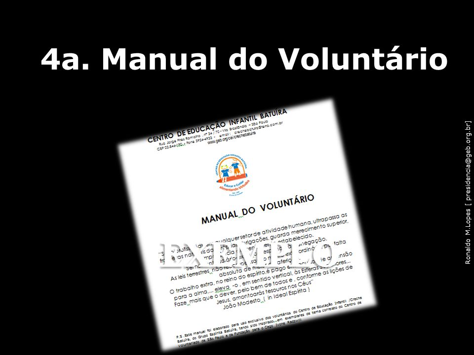 4a. Manual do Voluntário EXEMPLO