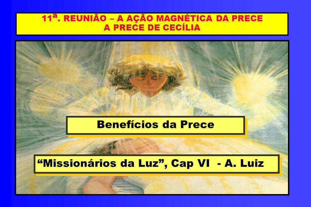 11a. REUNIÃO – A AÇÃO MAGNÉTICA DA PRECE