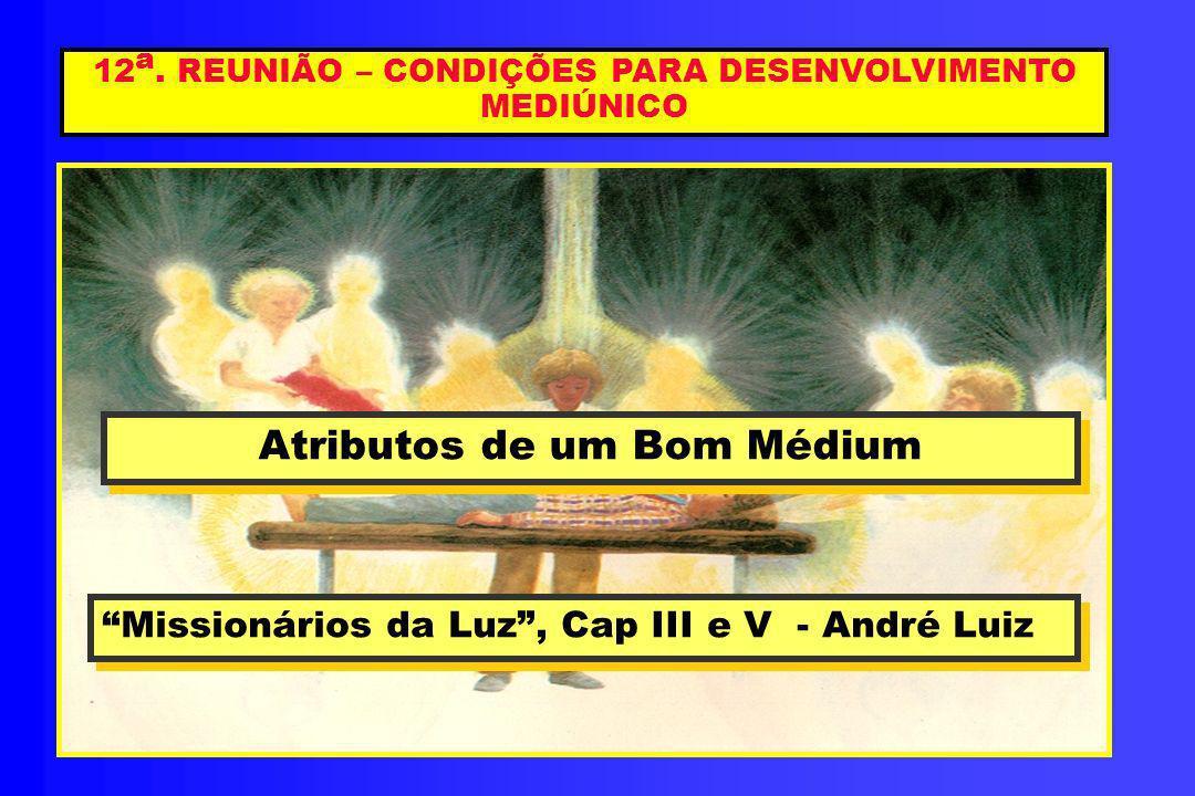 12a. REUNIÃO – CONDIÇÕES PARA DESENVOLVIMENTO MEDIÚNICO