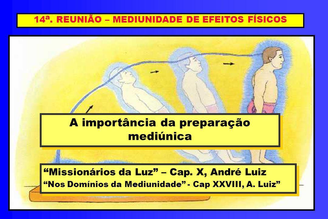 14a. REUNIÃO – MEDIUNIDADE DE EFEITOS FÍSICOS
