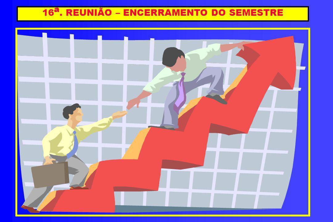 16a. REUNIÃO – ENCERRAMENTO DO SEMESTRE