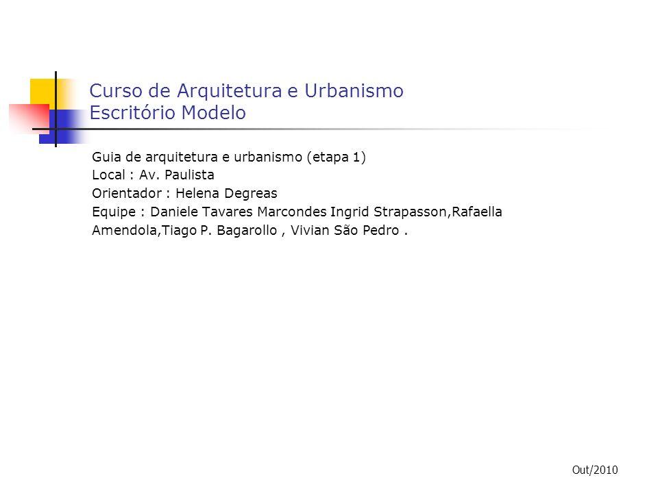 Curso de Arquitetura e Urbanismo Escritório Modelo