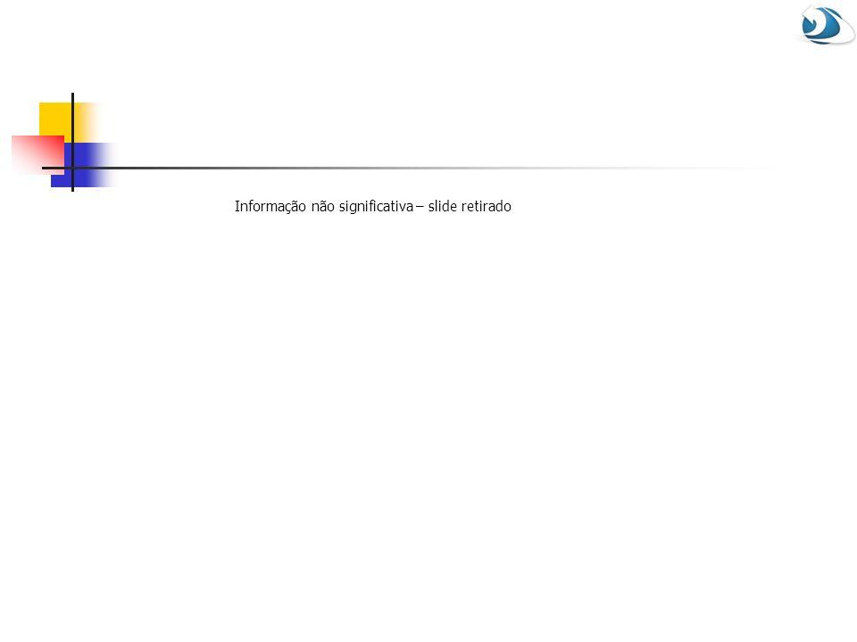 Informação não significativa – slide retirado