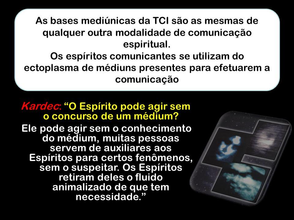 Kardec: O Espírito pode agir sem o concurso de um médium