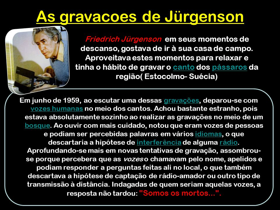 As gravacoes de Jürgenson