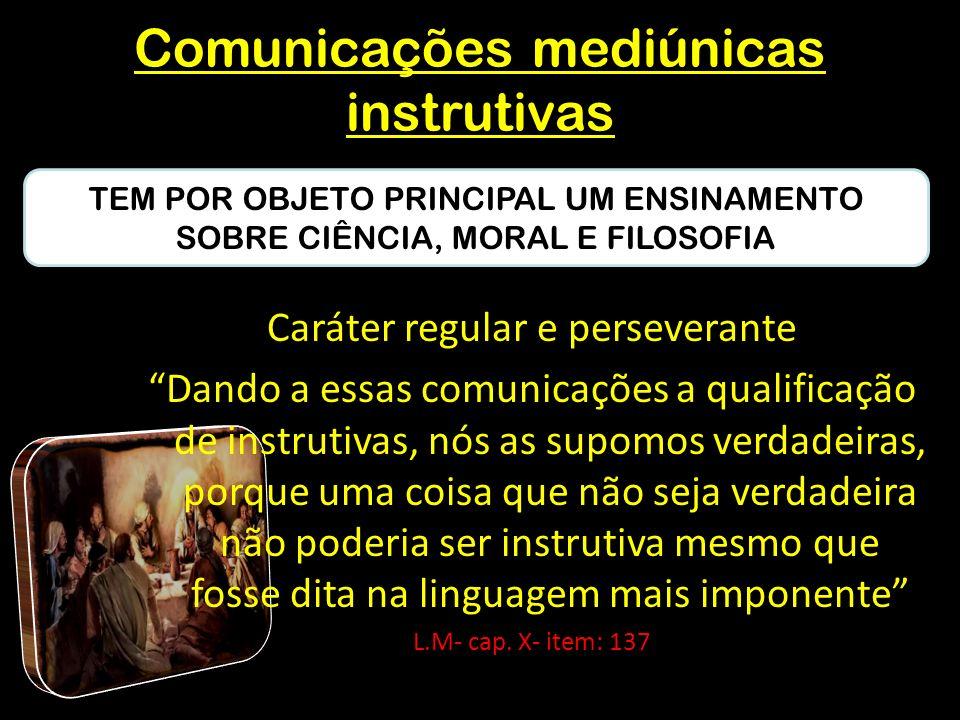 Comunicações mediúnicas instrutivas
