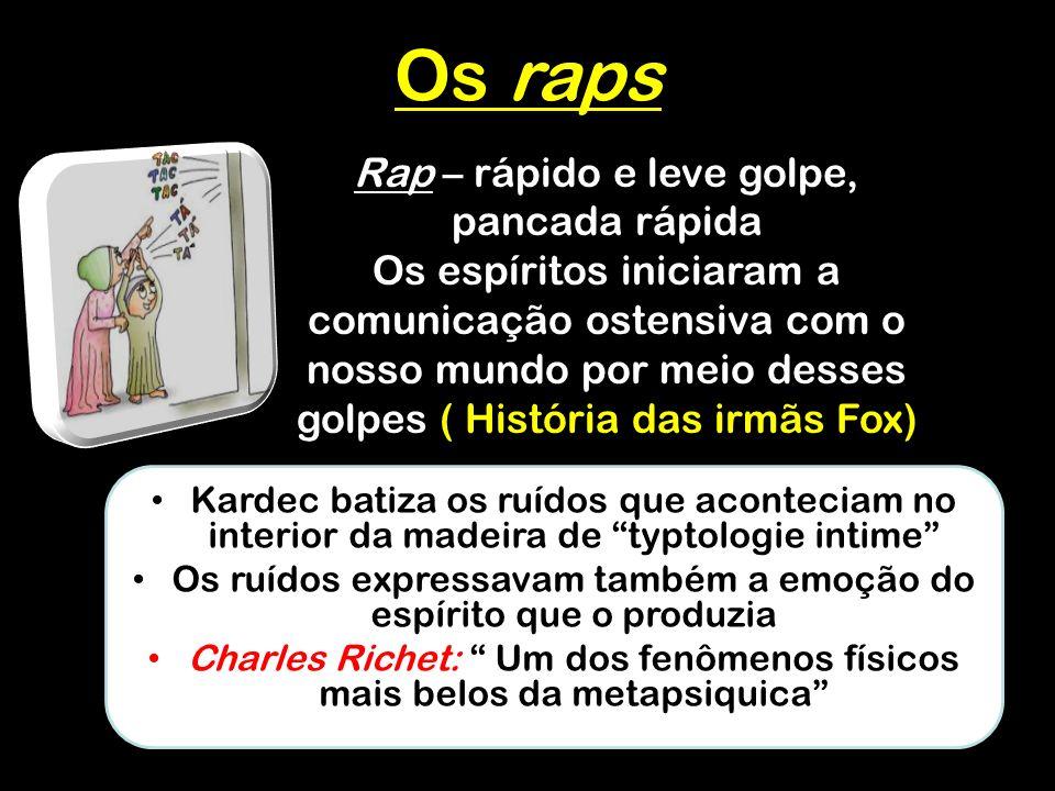Os raps Rap – rápido e leve golpe, pancada rápida