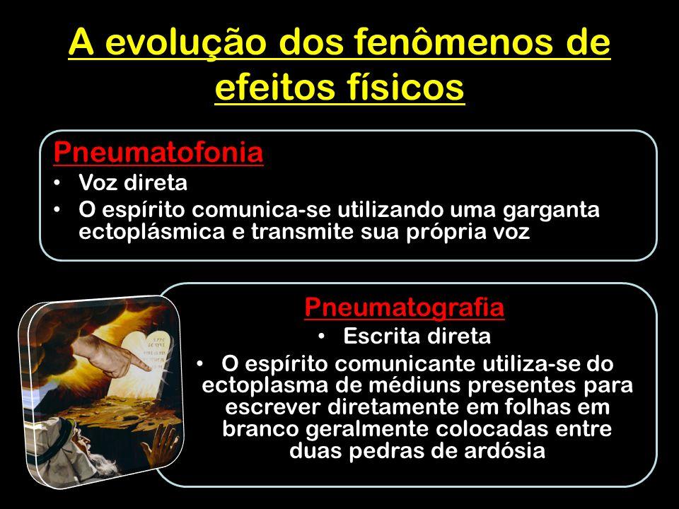 A evolução dos fenômenos de efeitos físicos