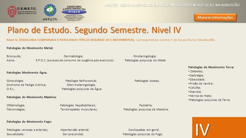 IV Plano de Estudo. Segundo Semestre. Nivel IV