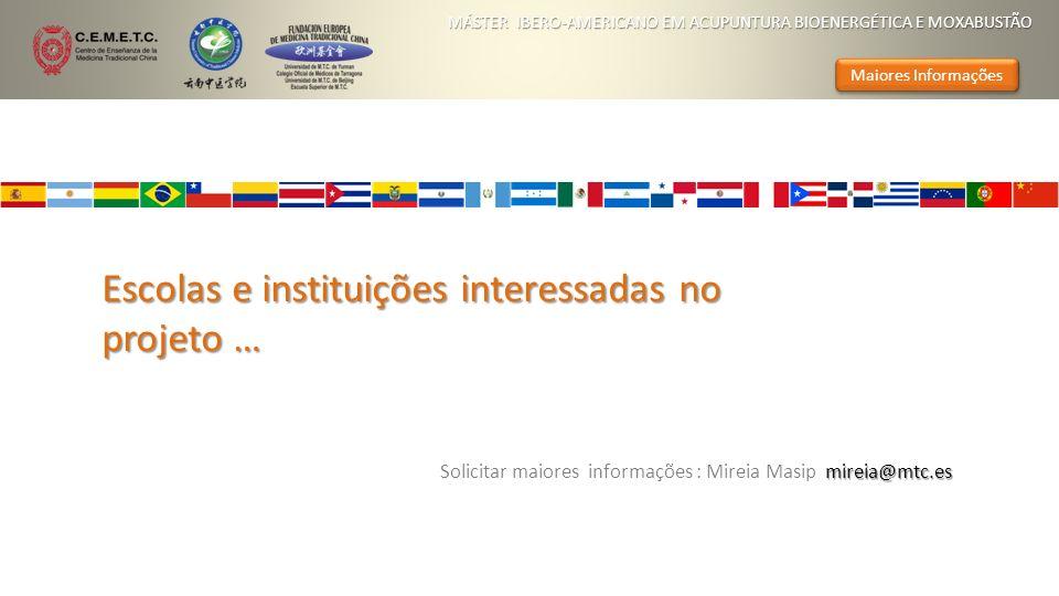 Escolas e instituições interessadas no projeto …