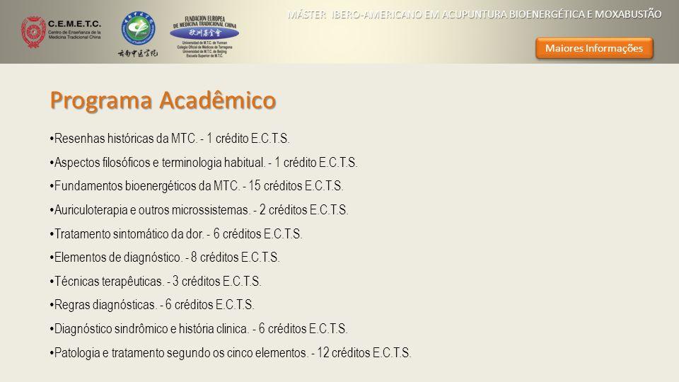 Programa Acadêmico Resenhas históricas da MTC. - 1 crédito E.C.T.S.