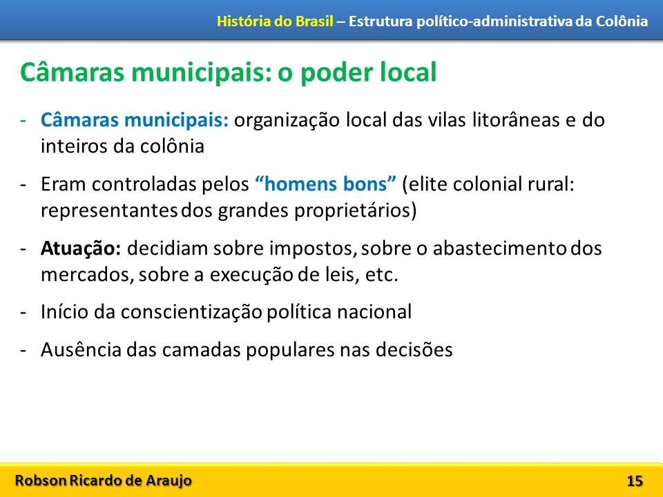 Câmaras municipais: o poder local