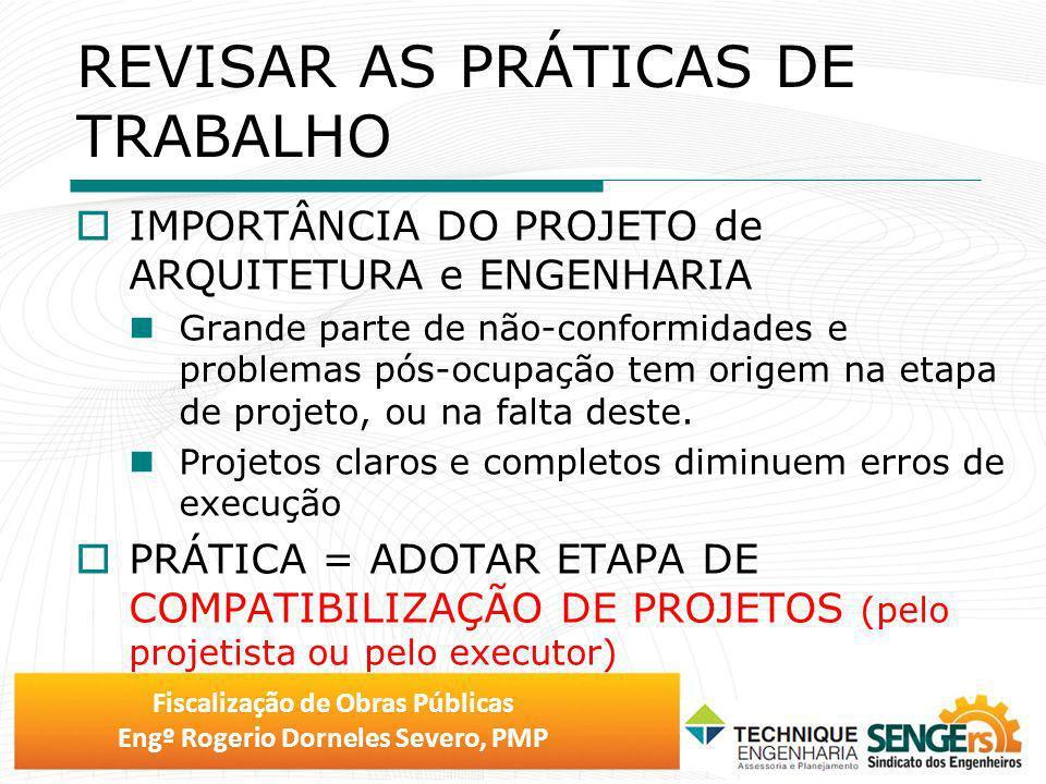 REVISAR AS PRÁTICAS DE TRABALHO