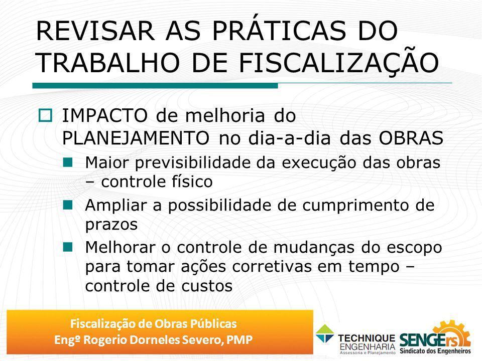 REVISAR AS PRÁTICAS DO TRABALHO DE FISCALIZAÇÃO