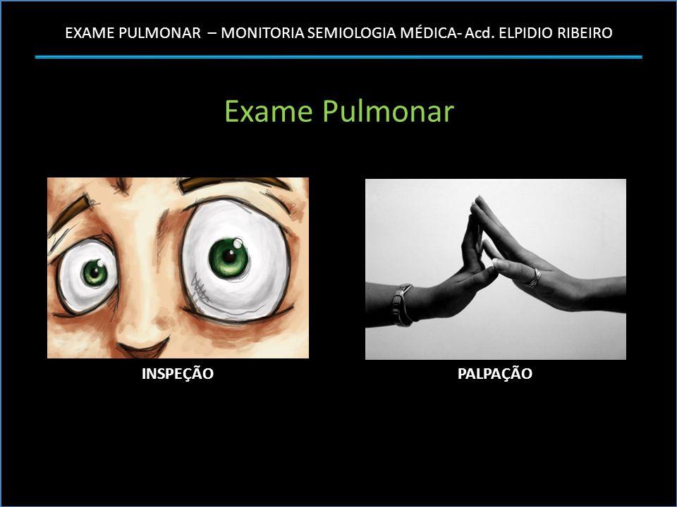 Exame Pulmonar INSPEÇÃO PALPAÇÃO