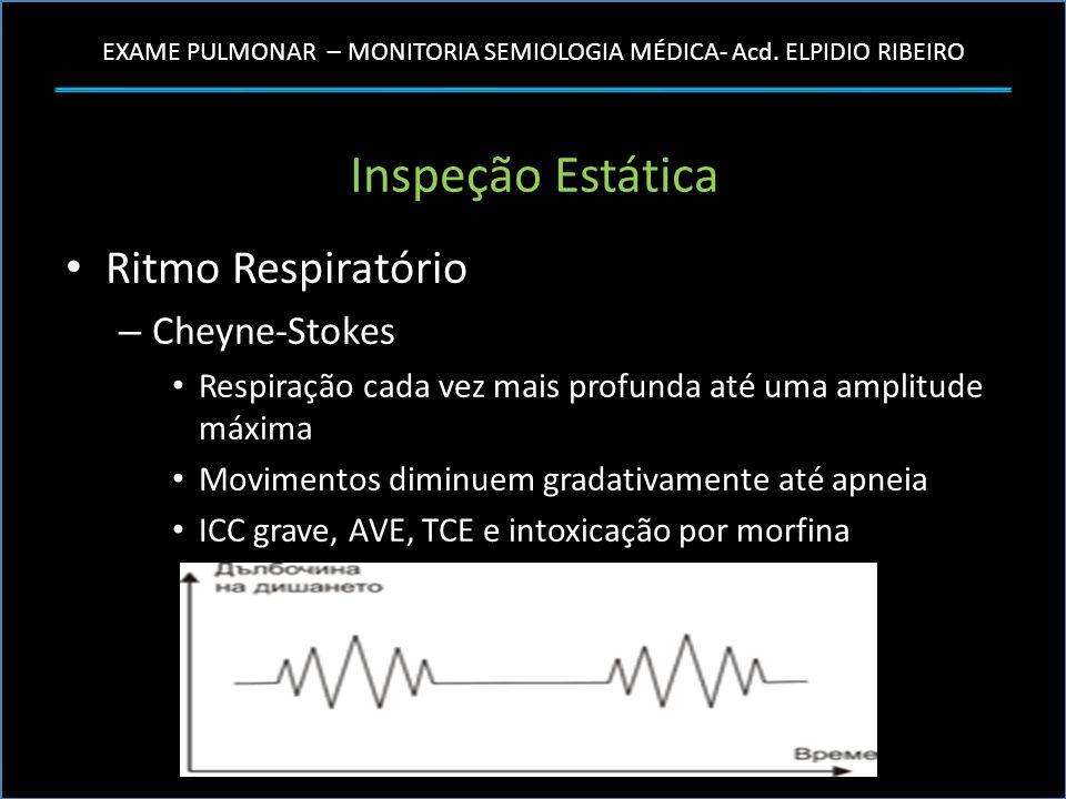 Inspeção Estática Ritmo Respiratório Cheyne-Stokes