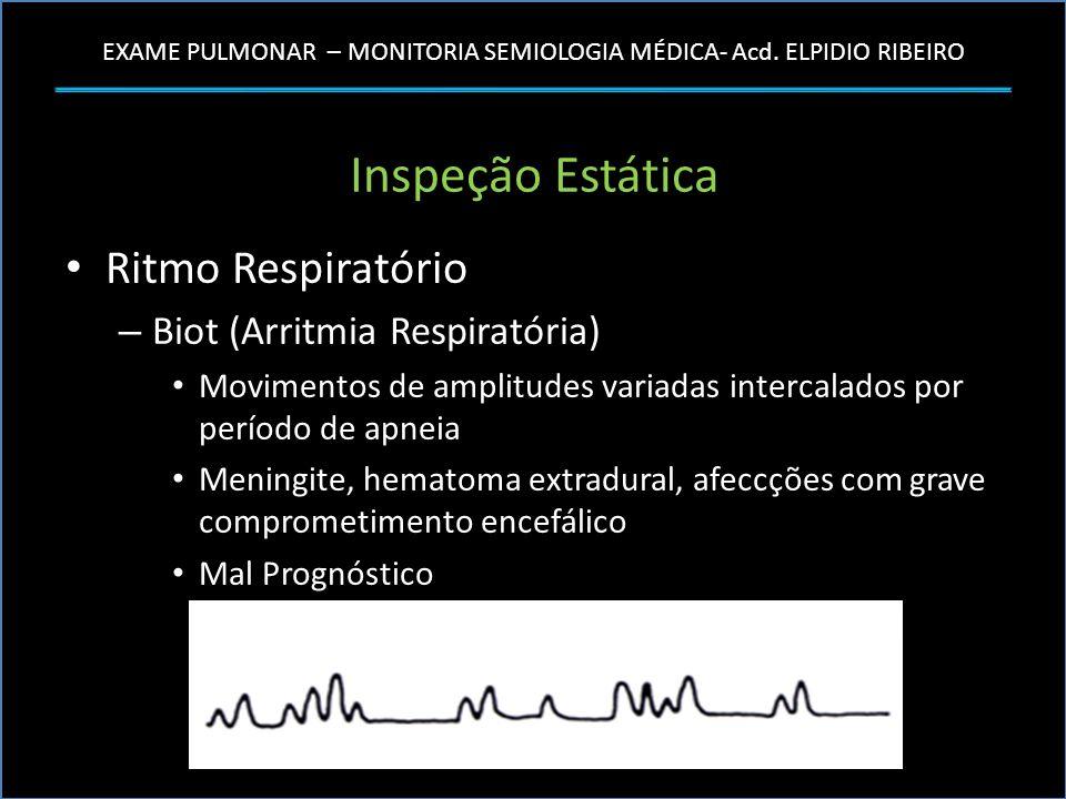 Inspeção Estática Ritmo Respiratório Biot (Arritmia Respiratória)