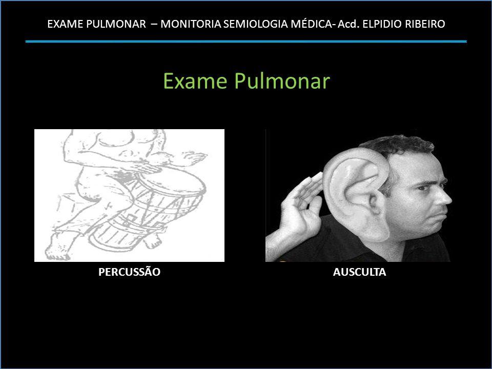 Exame Pulmonar PERCUSSÃO AUSCULTA