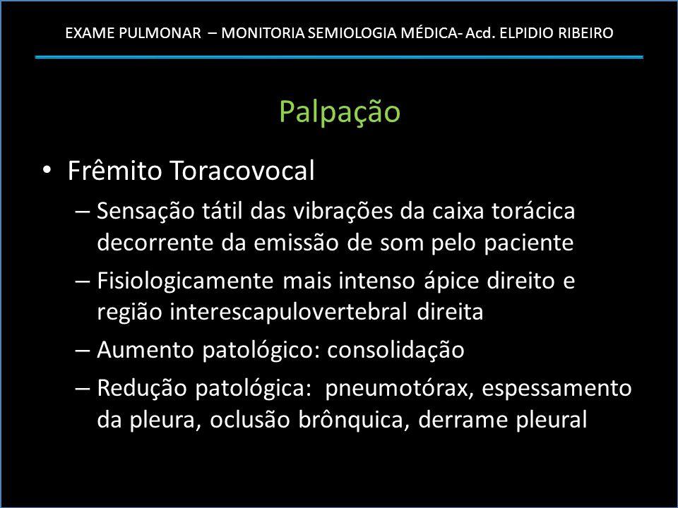 Palpação Frêmito Toracovocal