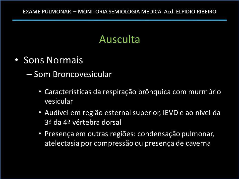 Ausculta Sons Normais Som Broncovesicular