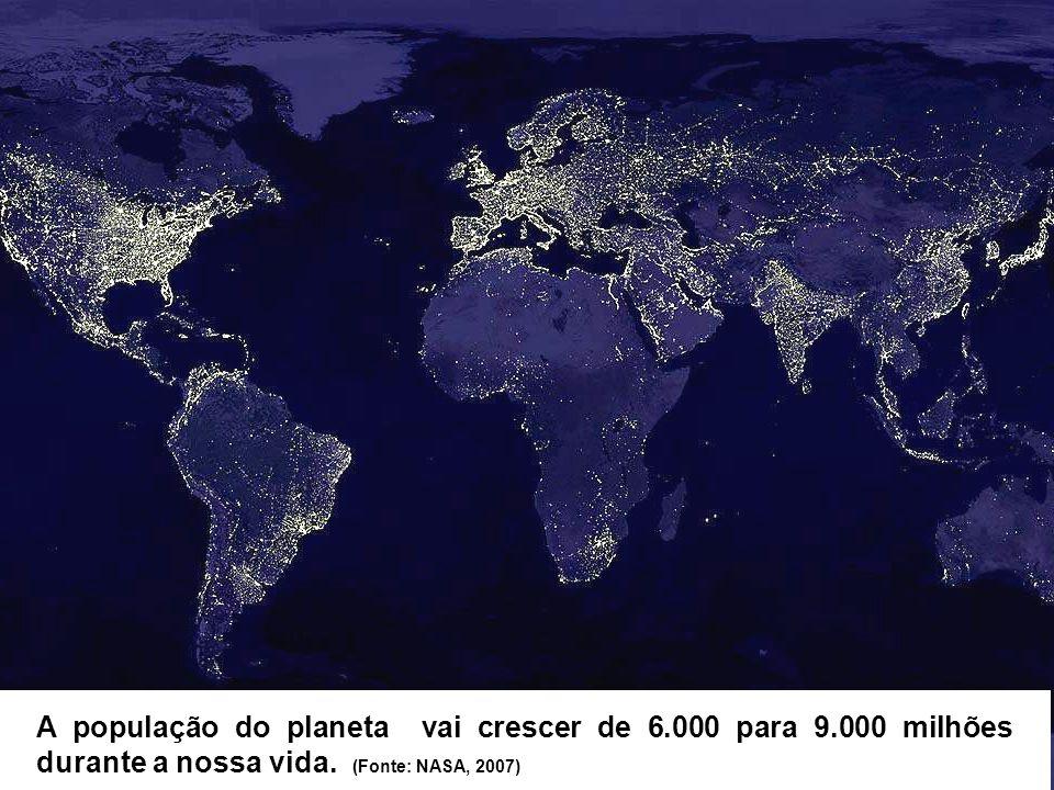 A população do planeta vai crescer de 6. 000 para 9