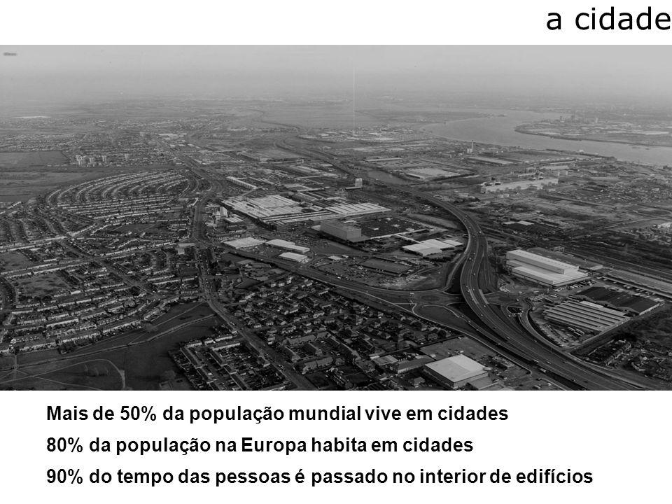 a cidade Mais de 50% da população mundial vive em cidades