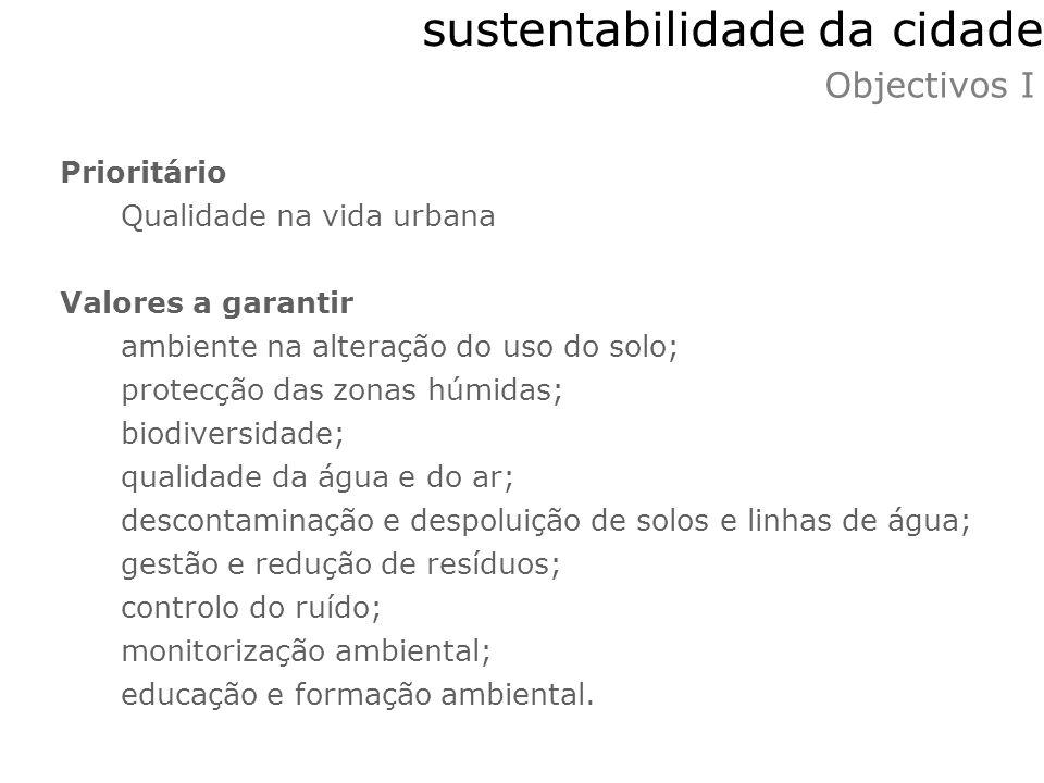 sustentabilidade da cidade
