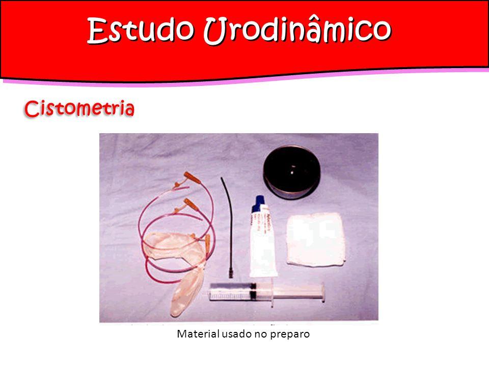 Estudo Urodinâmico Cistometria Material usado no preparo