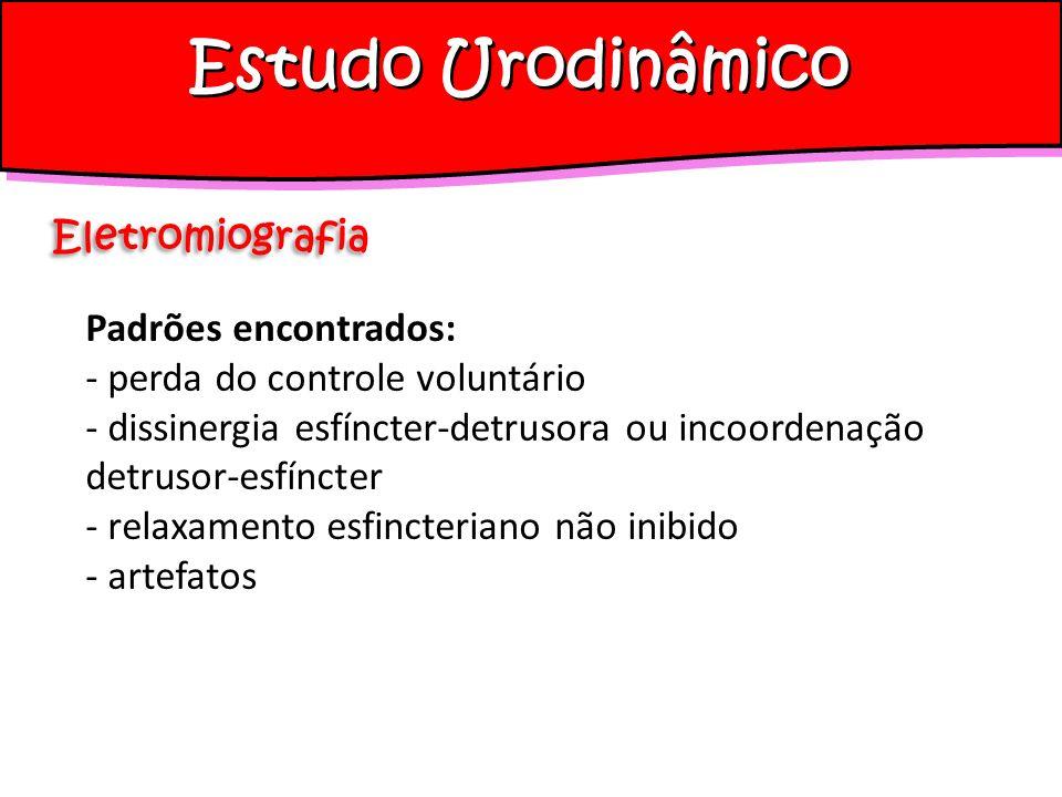 Estudo Urodinâmico Eletromiografia Padrões encontrados: