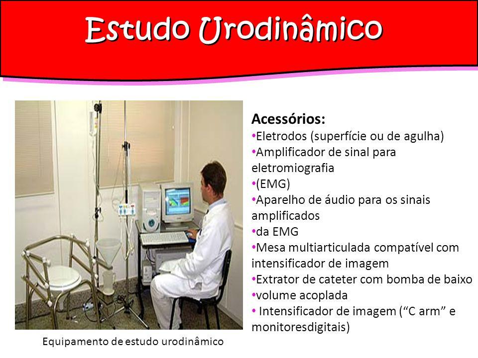 Estudo Urodinâmico Acessórios: Eletrodos (superfície ou de agulha)
