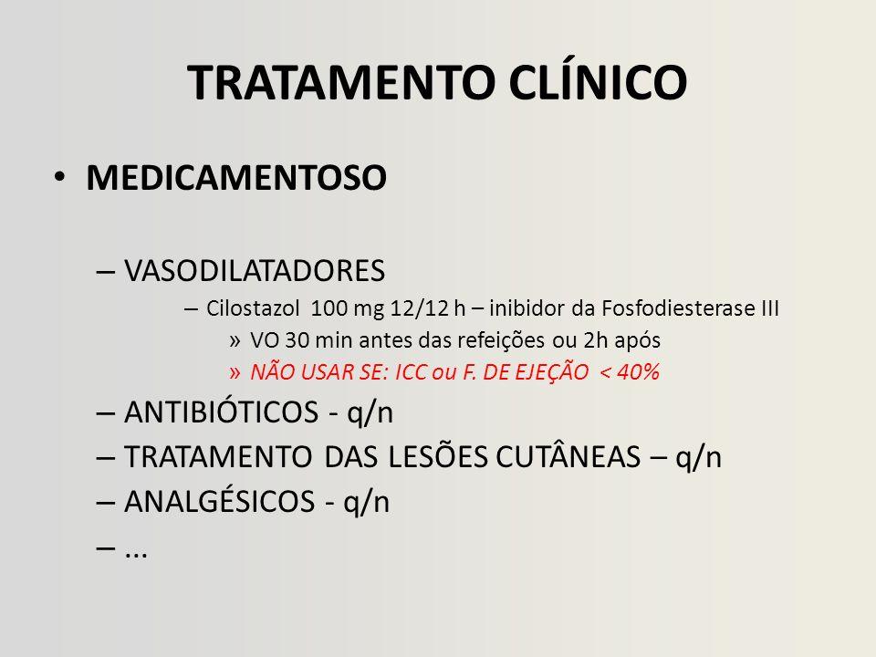 TRATAMENTO CLÍNICO MEDICAMENTOSO VASODILATADORES ANTIBIÓTICOS - q/n