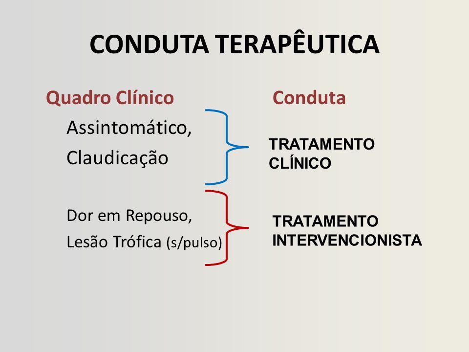 CONDUTA TERAPÊUTICA Quadro Clínico Conduta Assintomático, Claudicação