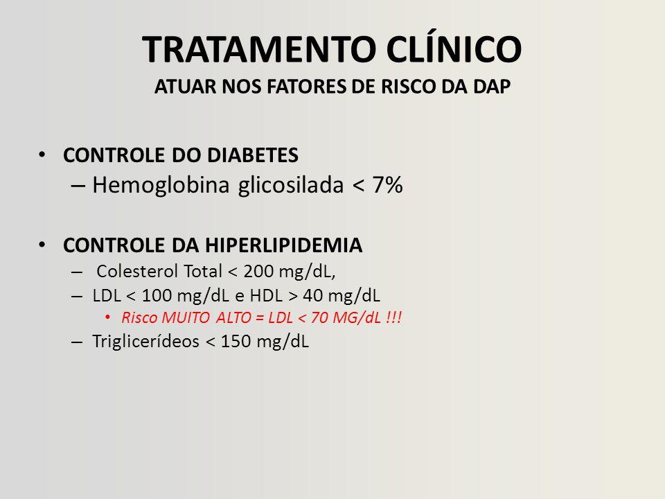 TRATAMENTO CLÍNICO ATUAR NOS FATORES DE RISCO DA DAP